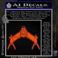 Babylon 5 Spaceship Omega Decal Siicker Orange Vinyl Emblem 120x120