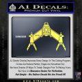 Babylon 5 Spaceship Omega Decal Siicker Yelllow Vinyl 120x120