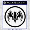 Bacardi Bat CR Decal Sticker Black Logo Emblem 120x120