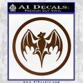 Bacardi Bat CR Decal Sticker Brown Vinyl 120x120