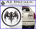 Bacardi Bat CR Decal Sticker Carbon Fiber Black 120x97