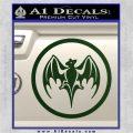 Bacardi Bat CR Decal Sticker Dark Green Vinyl 120x120