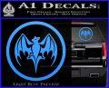 Bacardi Bat CR Decal Sticker Light Blue Vinyl 120x97