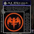 Bacardi Bat CR Decal Sticker Orange Vinyl Emblem 120x120