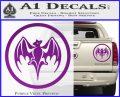 Bacardi Bat CR Decal Sticker Purple Vinyl 120x97