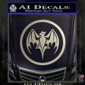 Bacardi Bat CR Decal Sticker Silver Vinyl 120x120