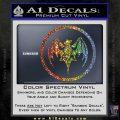 Bacardi Bat CR Decal Sticker Sparkle Glitter Vinyl 120x120