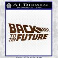 Back To The Future Title Logo Decal Sticker Brown Vinyl 120x120