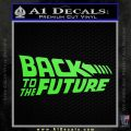 Back To The Future Title Logo Decal Sticker Lime Green Vinyl 120x120