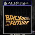 Back To The Future Title Logo Decal Sticker Metallic Gold Vinyl 120x120