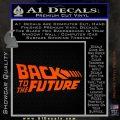 Back To The Future Title Logo Decal Sticker Orange Vinyl Emblem 120x120