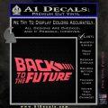 Back To The Future Title Logo Decal Sticker Pink Vinyl Emblem 120x120