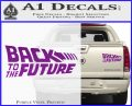 Back To The Future Title Logo Decal Sticker Purple Vinyl 120x97