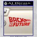 Back To The Future Title Logo Decal Sticker Red Vinyl 120x120