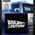 Back To The Future Title Logo Decal Sticker White Emblem 120x120