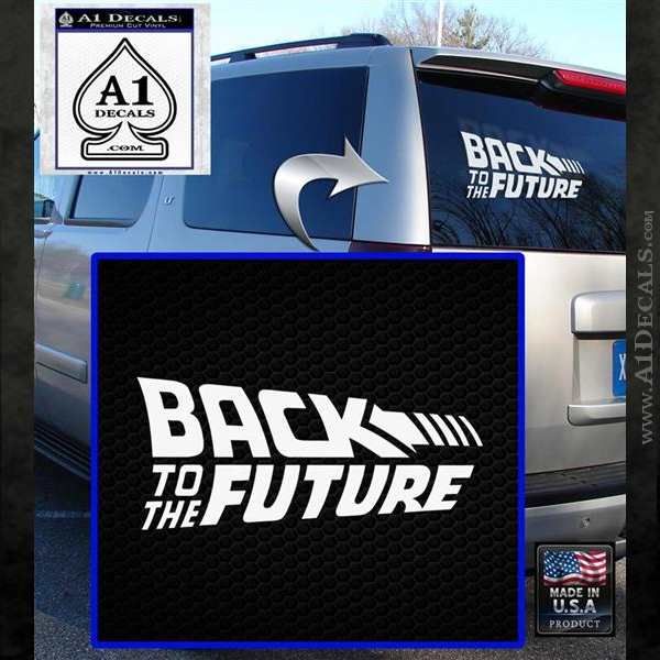 Back To The Future Title Logo Decal Sticker White Emblem