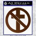 Bad Religion Decal Sticker Brown Vinyl 120x120