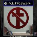 Bad Religion Decal Sticker Dark Red Vinyl 120x120