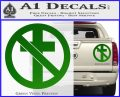 Bad Religion Decal Sticker Green Vinyl 120x97