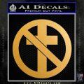 Bad Religion Decal Sticker Metallic Gold Vinyl 120x120