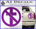 Bad Religion Decal Sticker Purple Vinyl 120x97