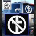 Bad Religion Decal Sticker White Emblem 120x120