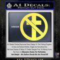 Bad Religion Decal Sticker Yelllow Vinyl 120x120
