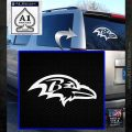 Baltimore Ravens NFL Decal Sticker D1 White Emblem 120x120
