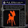 Bambi Decal Sticker D3 Orange Vinyl Emblem 120x120