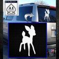 Bambi Decal Sticker D3 White Emblem 120x120