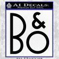 Bang And Olufsen B O Decal Sticker VZL Black Logo Emblem 120x120