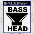Bass Head D1 Decal Sticker Black Logo Emblem 120x120