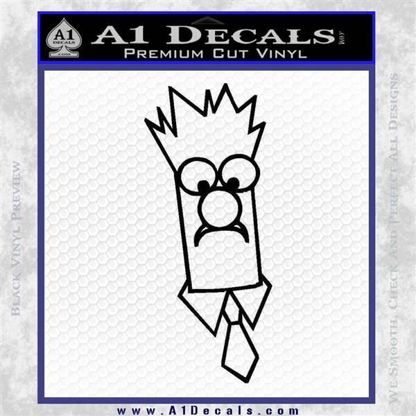 Beaker Decal Sticker Muppets Black Logo Emblem