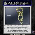 Beaker Decal Sticker Muppets Yelllow Vinyl 120x120
