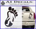 Bigfoot Decal Sticker D1 Carbon Fiber Black 1 120x97