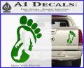 Bigfoot Decal Sticker D1 Green Vinyl 1 120x97