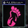 Bigfoot Decal Sticker D1 Hot Pink Vinyl 1 120x120