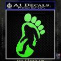 Bigfoot Decal Sticker D1 Lime Green Vinyl 1 120x120