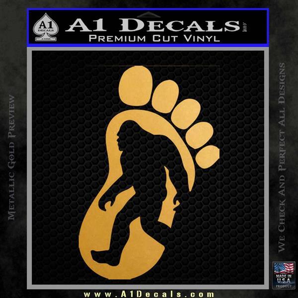 Bigfoot Decal Sticker D1 Metallic Gold Vinyl