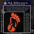 Bigfoot Decal Sticker D1 Orange Vinyl Emblem 1 120x120