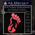 Bigfoot Decal Sticker D1 Pink Vinyl Emblem 1 120x120