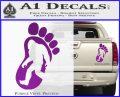 Bigfoot Decal Sticker D1 Purple Vinyl 1 120x97