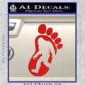 Bigfoot Decal Sticker D1 Red Vinyl 1 120x120