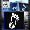 Bigfoot Decal Sticker D1 White Emblem 1 120x120