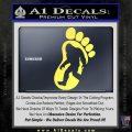 Bigfoot Decal Sticker D1 Yelllow Vinyl 1 120x120