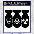 Bio Hazzard Bombs Decal Sticker Black Logo Emblem 120x120