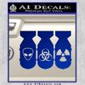 Bio Hazzard Bombs Decal Sticker Blue Vinyl 120x120