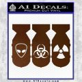 Bio Hazzard Bombs Decal Sticker Brown Vinyl 120x120
