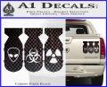 Bio Hazzard Bombs Decal Sticker Carbon Fiber Black 120x97