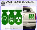 Bio Hazzard Bombs Decal Sticker Green Vinyl 120x97